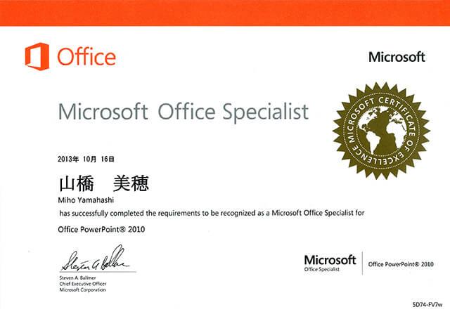 Microsoft Office Specialist PowerPoint 2010